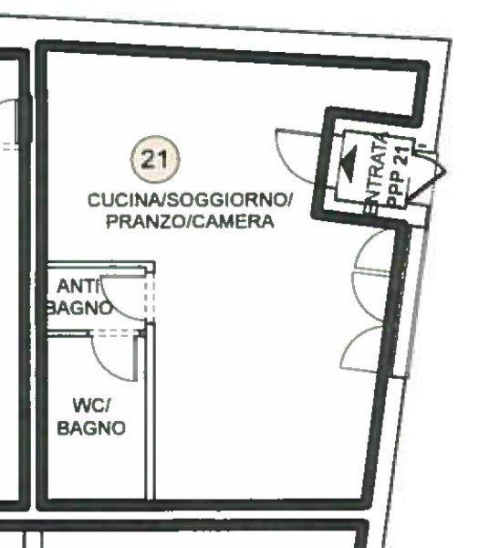 Mendrisio: ampio monolocale in centro città