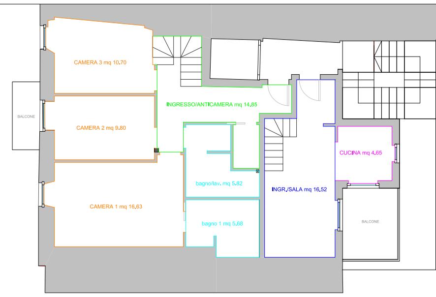 Mendrisio Capolago: attico duplex con terrazza e vista lago